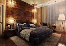 luxurious wood panel wall bedroom decoration with traditional wooden nightstand table and chic stand lamp also bedroom wood wall panel