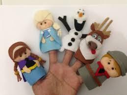 Frozen felt finger puppets feltro pinterest feltro