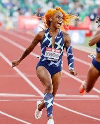 Sha'Carri Richardson celebrates 100-meter dash win in fierce style | GMA