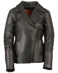 zoomed image milwaukee leather women s long length vented biker jacket 4x black
