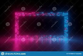 Neon Light Spectrum 3d Render Abstract Background Screen Pixels Glowing Dots