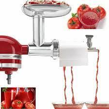 Kıyma makinesi sosis doldurma ve domates suyu DIY ketçap eki KitchenAid  tezgah mikseri mutfak gereçleri yemek kıyma Outdoor Stoves