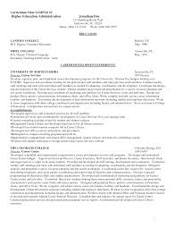 Cv Template Higher Education Resume Examples