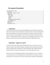 king arthur essay king arthur essay term papers 364 words studymode