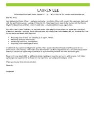 Police Cover Letter Police Officer Cover Letter Examples Livecareer