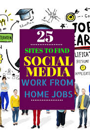 sites to social media at home jobs