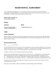 agreement templates print room rental agreement form template