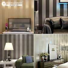 Us 2199 Grote Muur Non Woven Zwart Wit Zilver Goud Glitter Gestreepte Behang Muur Papierrol Papel De Parede Listrado Behang Vlakte In Grote Muur
