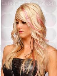 long hollywood oval face hairstyle side