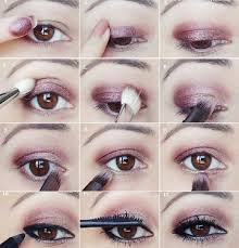 just use only one shimmery eyeshadow for hooded eyes to make it look more opened and defined now apply the plum gold shadow above your natural crease