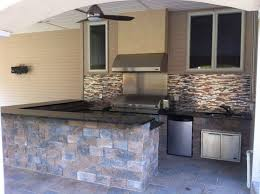 Outdoor Kitchen Designs With Pool Cool Outdoor Kitchen Fireplace Design In NJ K C Land Design