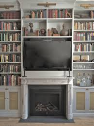 marble mantel in modern apartment