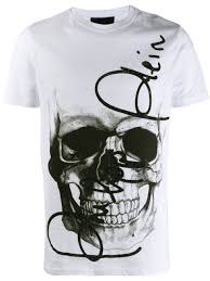 Philipp Plein <b>Футболка С Круглым</b> Вырезом И Декором Skull -40 ...