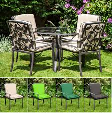 replacement cushion for homebase lucca metal garden patio dining chairs outdoor