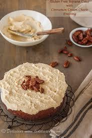 Gluten Free Banana Cake With Cinnamon Cream Cheese Frosting