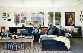blue couches living rooms minimalist. DIY The Look: Rachel Bilson\u0027s Boho-Minimalist Home Via Brit + Co. Living SpacesBlue Couch Blue Couches Rooms Minimalist I