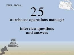 Top 25 Warehouse Operations Manager Interview Questions And