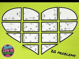 solving equations valentine s day math one step equations negatives puzzle valentine s day activity