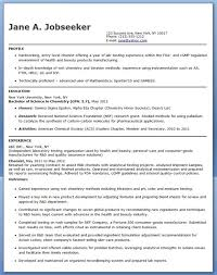 A Sample Of Resume Enchanting Entry Level Chemistry Resume Sample Creative Resume Design