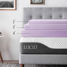 memory foam mattress topper 4 inch. Exellent Inch LUCID 3 Or 4 Inch Lavender Infused Memory Foam Mattress Topper  Twin Full  Queen Intended Inch