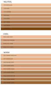 Clinique Superbalanced Makeup Color Chart Ysl Fusion Ink Foundation Le Teint Ecre De Peau Color Range