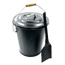 fireplace ash bucket fireplace ash bucket ash bucket amp shovel set black pewter or antique copper fireplace ash bucket