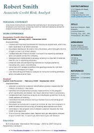 Credit Risk Analyst Resume Samples Qwikresume