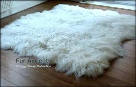 Amazoncom Fur Accents Shaggy Faux Sheepskin Area Rug White Freeform Shape 3x5 Kitchen Dining Amazoncom Amazoncom Fur Accents Shaggy Faux Sheepskin Area Rug White