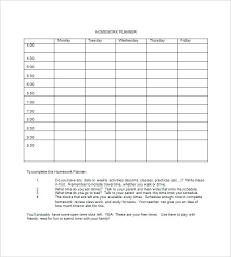 Homework Agenda Templates Assignment Planner Template Juanbruce Co
