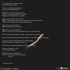 Living In The Past Quotes Unique In My Life When No One Wa Quotes Writings By Shubham R