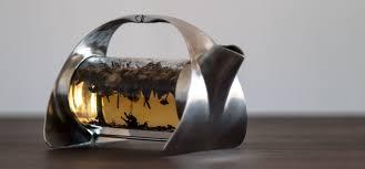 Designer Glass Teapot Sorapot A Sleek Metal Teapot With A Glass Brewing Chamber