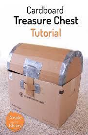 pirate week day 4 cardboard treasure chest tutorial pirate treasure chest pirate treasure and tutorials