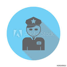 Web Design Office Enchanting Policeman Officer Avatar Icon Elements Of Airport In Flat Blue