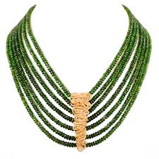 coil chrome diopside necklace