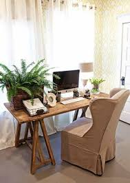 cottage style office. Home Office , Atmospheric Cottage Style : With Wooden Desk
