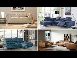 unique modern leather sofa set designs