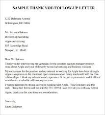 Interview Follow Up Email Template Professional Template