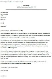 Relocation Cover Letter Examples For Resume Examples Of Resumes