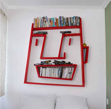 creative office decorating ideas. Red Face Book Shelves For Office Storage. Creative Decor Ideas Bring Fun Into Your Working Spaces Decorating