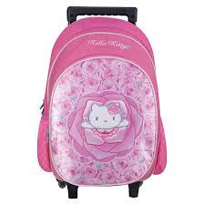 Backpack Light Pink Hello Kitty Roller Backpack Light Pink 40 Cm