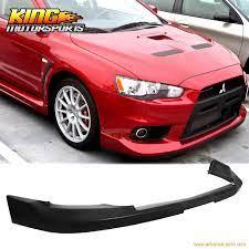 For 08 15 Mitsubishi Lancer Evo X Jun Oe Jdm Style Pu Front Bumper Lip Jdm Mitsubishi Lancer Evo X Jdm
