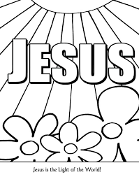 Free Christian Coloring Poster Download Use With Any Bible Lesson
