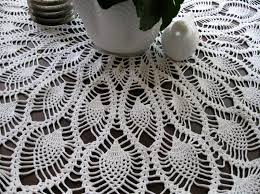 olivas creative quest crochet pineapple round tablecloth