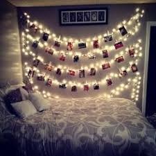 Dorm Room Ideas: Pictures and lights hung together! Easy DIY project to  hang up memories!