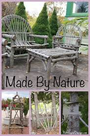 garden crafts. Garden Crafts Made From Wood Or Sticks-A Collection Of That You Can