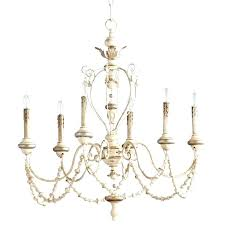 country chandelier lighting designer chandeliers eclectic home white washed french beaded swag 6 light style lamp shades