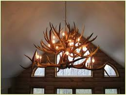 light brown resin fixture faux antler chandelier intended for