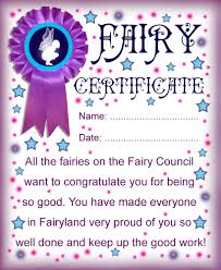 Fairy Printable Certificate For The