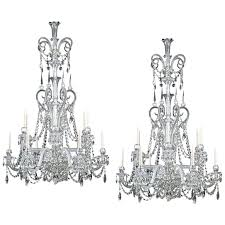 antique chandeliers highly important pair of cut glass antique chandeliers by for antique chandelier restoration