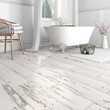 waterproof vinyl flooring with a whitewashed shabby chic look